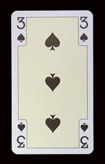 Spielkarten der Ladys - Pik Drei