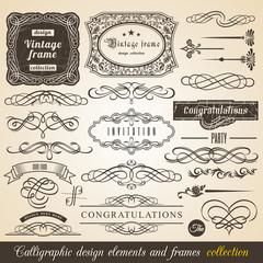 Typographic Elements, Vintage Labels, Ribbons, illustration