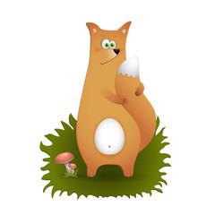 Funny fox cartoon