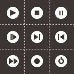 Vector media buttons icon set
