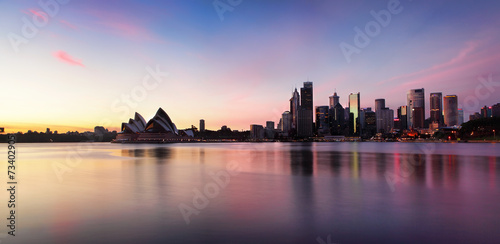 Staande foto Sydney Sydney City Skyline at sunrise