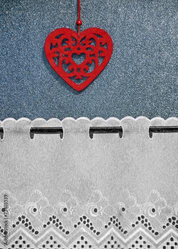 canvas print picture Herz für Liebe