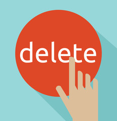 hand click on delete button