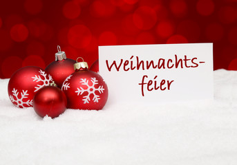 Weihnachtshintergrund / Weihnachtsfeier