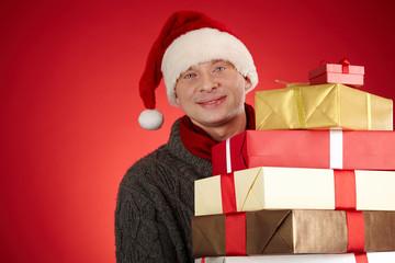 Happy Santa man
