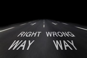 right way, wrong way
