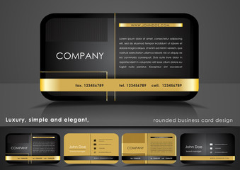 Business card in black and gold color