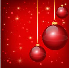 Nice red christmas balls