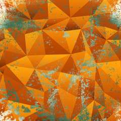 Abstract triangle grunge background