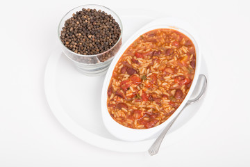 Red Beans and Rice with Whole Peppercorns