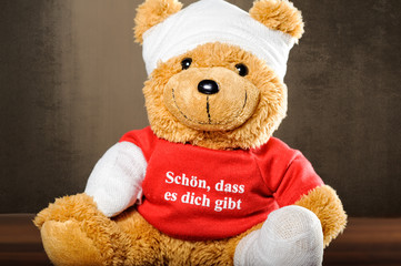 teddy mit verband