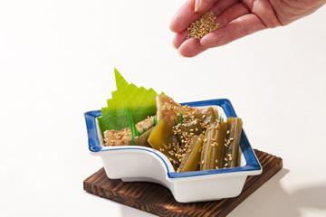 夏野菜の炊合せ・日本家庭料理
