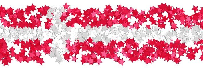 Sternenfeld in den Farben der Flagge Dänemarks