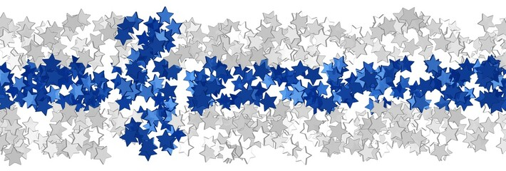 Sternenfeld in den Farben der finnischen Flagge