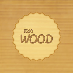 Vector blurred eco wood background.