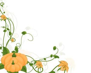 Decorative Flourish Pumpkin