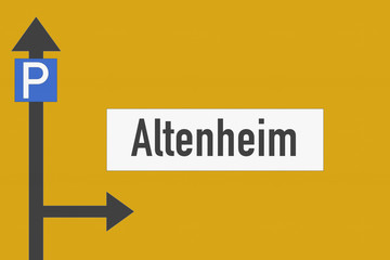 Wegweiser Altenheim