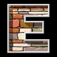 stone letter E