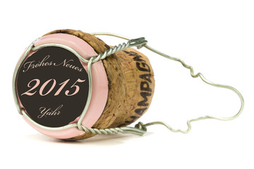 Champagnerkorken Rose´ - Frohes Neues Jahr 2015