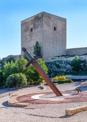Sword Sun Dial at Lorca Castle, Murcia Province, Spain