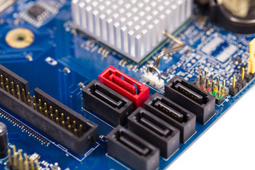 Electronic board close up.