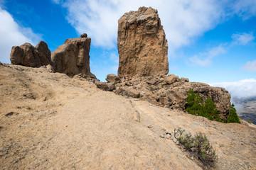 Roque Nublo in Canary Islands (Spain)