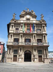 City hall of Pamplona.Spain