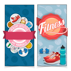 Active lifestyle banners.