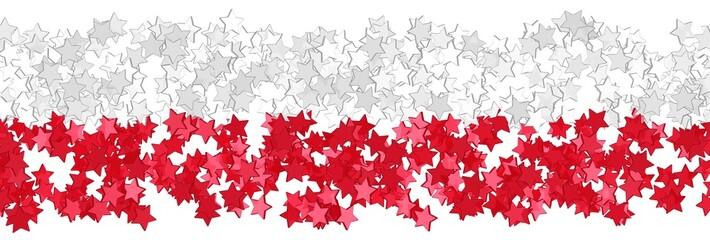 Sternenfeld in den Farben der polnischen Flagge