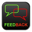 Schwarzer Button: Feedback