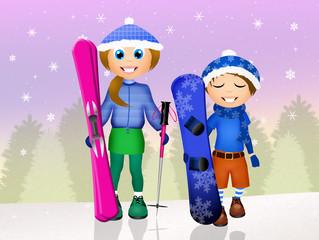 children skier