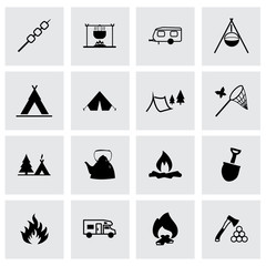 Vector camping icon set