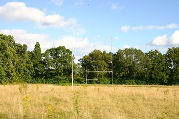 Abandoned rugby field
