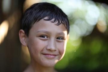boy against summer backgriund