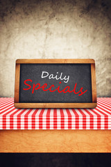 Daily Specials Title on Restaurant Slate Chalkboard