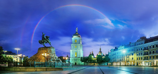 Rainbow over the Monastery Sophievsky