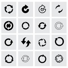 Vector refresh icon set