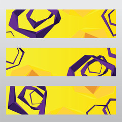 abstract polygon vector header