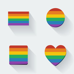 Rainbow Flags Set