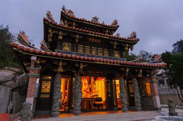night view of a temple in Kinmen, Taiwan
