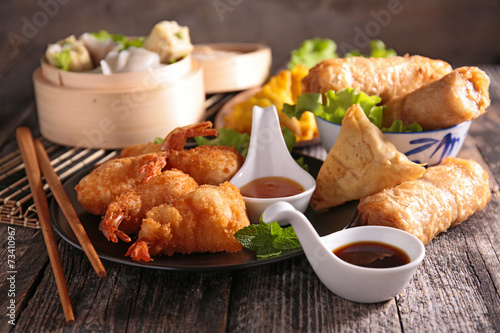 Deurstickers Assortiment asia food