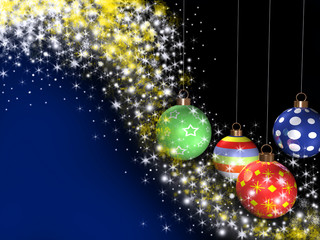 3d llustration of a christmas balls with stars