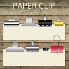 Set of different paper clips for your design, vector
