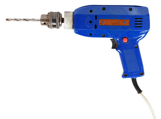 Blue electric drill