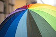 rainbow flag umbrella