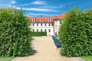 Prague, Czech Republic: Wallenstein Riding Hall in baroque garde