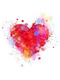 Fototapety Splattered heart