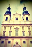 Vienna Jesuit Church. Cross processed filtered tone.