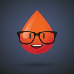 blood avatar wearing glasses