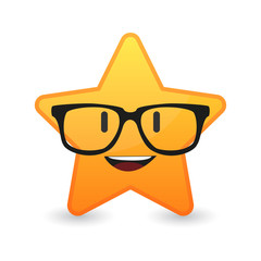 cute star avatar wearing glasses